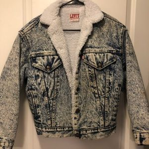 Classic Levi's Acid Wash Sherpa Jacket